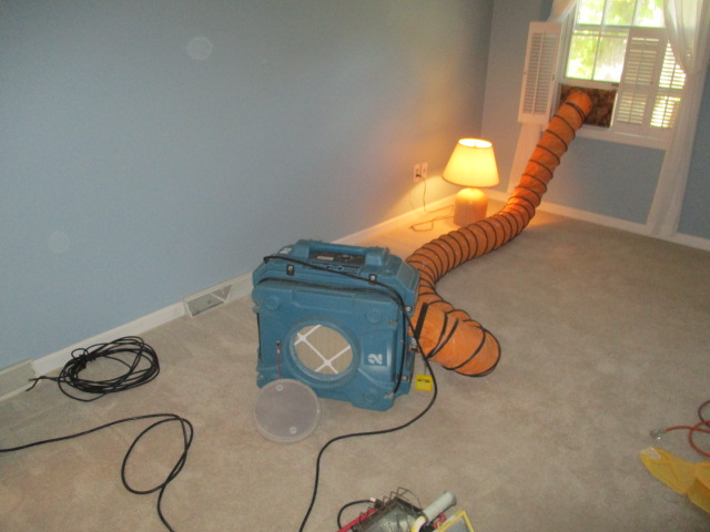 HEPA Filter Being Used at Home for CCS Property Services During Mold Abatement Process
