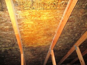 Before and After Photo of mold abatement by CCS Property Services