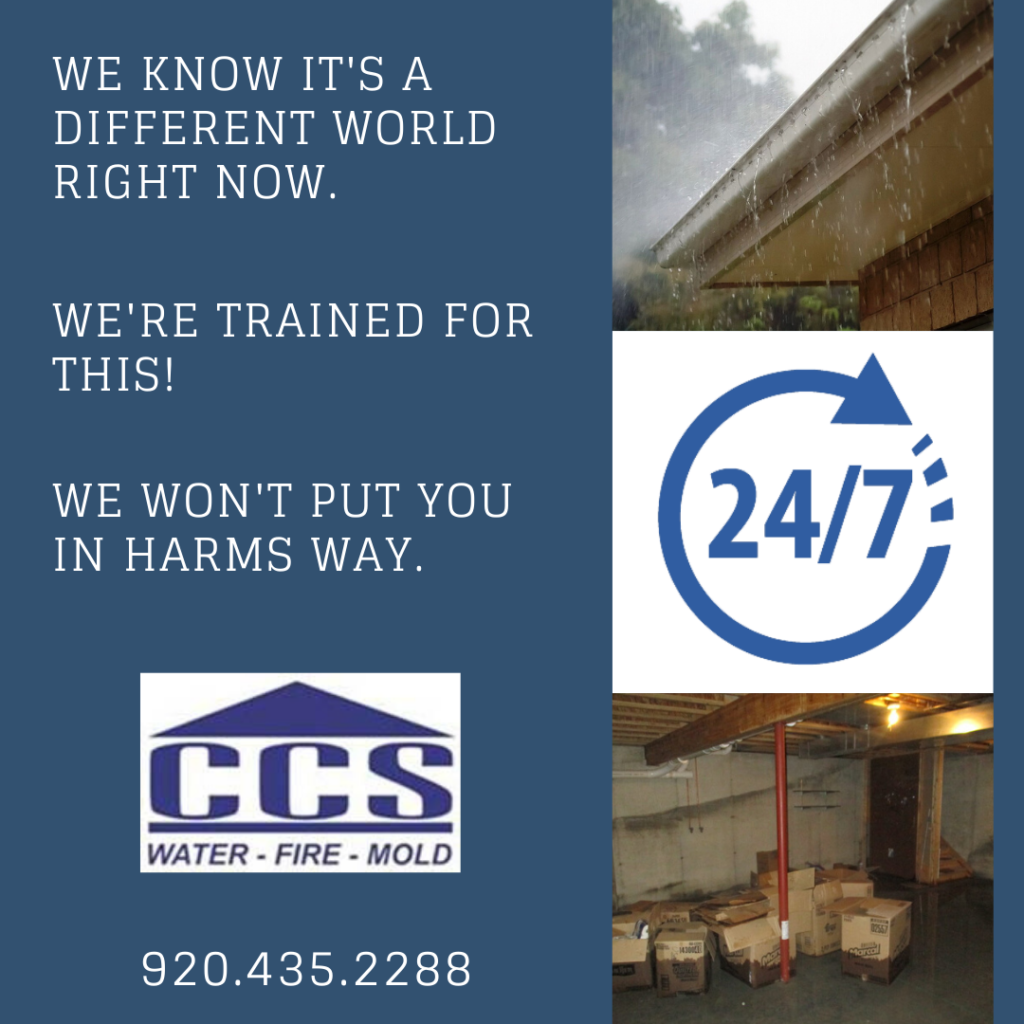 mold and water cleanup CCS Property Services Green Bay, WI