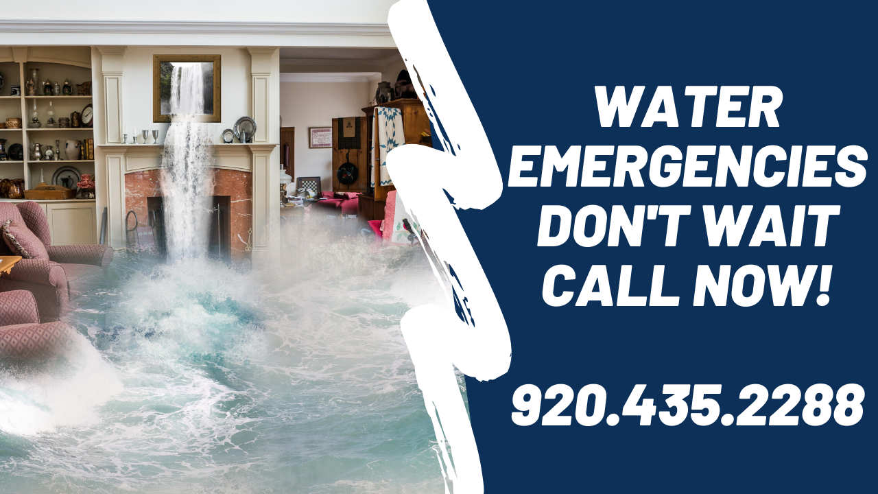 Water Damage Cleanup Wisconsin. Green Bay water removal and mitigation services