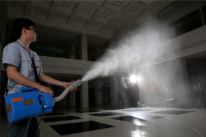 Fogging and Misting Disinfectant & Sanitizer into Businesses and Homes in Wisconsin