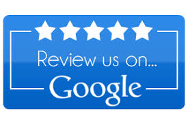 review us on google with 5 white stars
